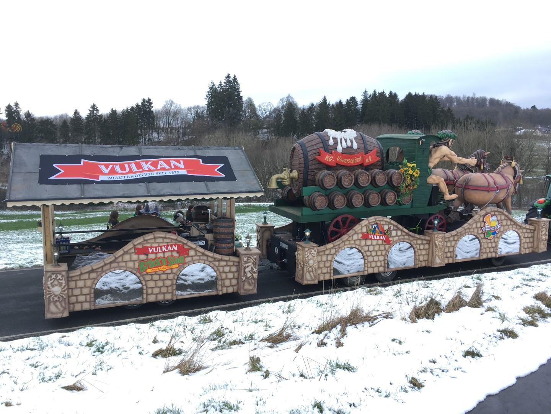 Vulkan Brauerei Mendig Karnevalswagen